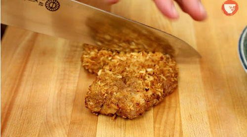 Thịt lợn tẩm bột nướng giòn kiểu Nhật-7
