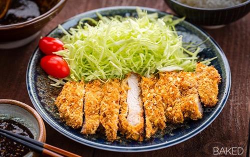 Thịt lợn tẩm bột nướng giòn kiểu Nhật-10