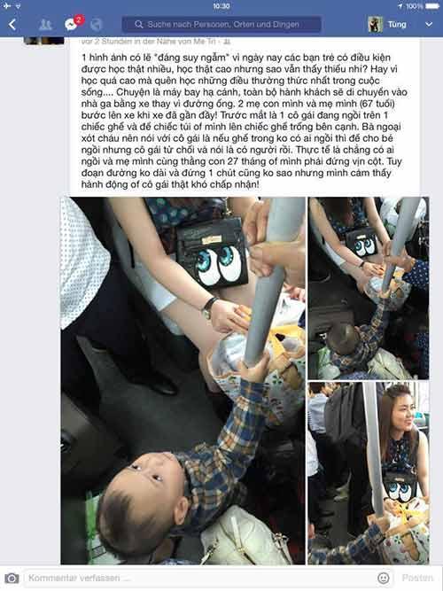 buc xuc vi hot girl khong nhuong ghe xe bus cho be 2 tuoi - 1