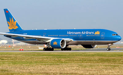 may bay vietnam airlines suyt huc nhau tai trung quoc - 1