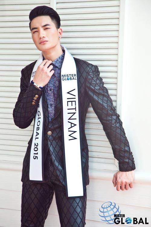 Thí sinh VN diện trang phục bộ đội ở Mister Global 2015 - 13