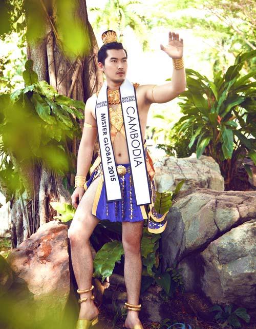 Thí sinh VN diện trang phục bộ đội ở Mister Global 2015 - 12