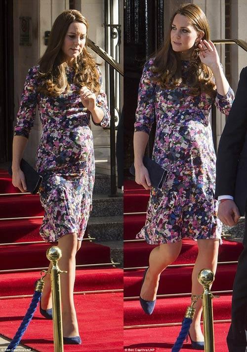 Công nương Kate lộ vẻ mệt mỏi khi mang bầu tháng cuối-3