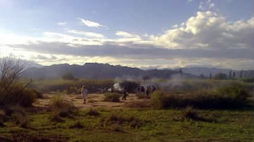 argentina: hai truc thang va cham tren khong, 10 nguoi chet - 2