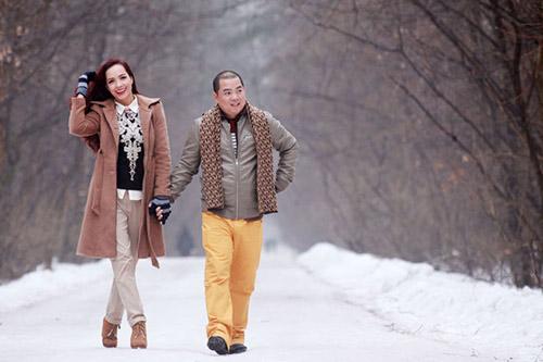 vo chong thuy hanh - minh khang lang man tren tuyet - 2