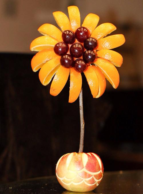 tia hoa huong duong tu hoa qua cho be - 8