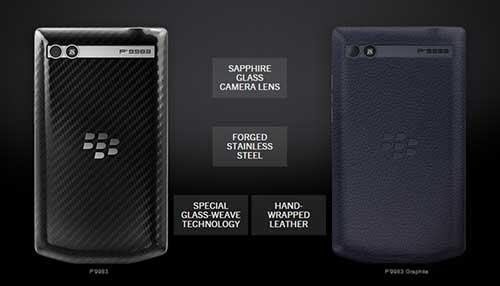blackberry ra smartphone sieu sang porsche design p'9983 graphite - 7