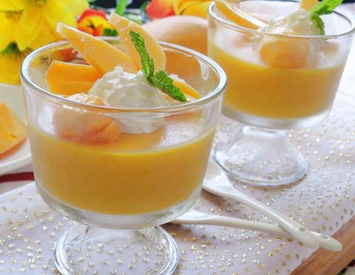 pudding xoai thom ngon, thanh mat - 9