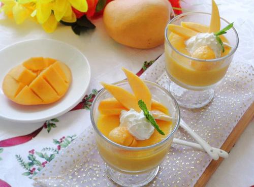 pudding xoai thom ngon, thanh mat - 8