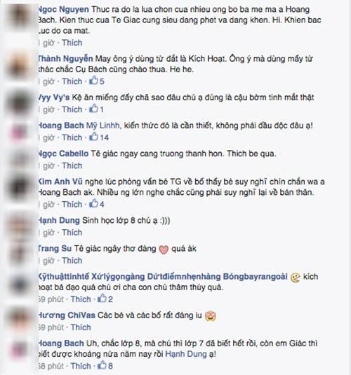 """hoang bach len facebook """"che"""" tran luc khong biet day con gioi tinh - 4"""
