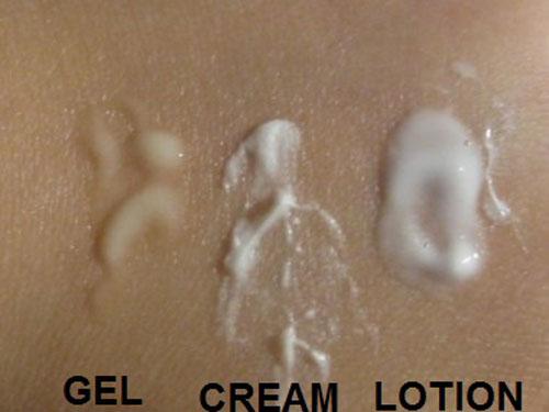 phan biet cac dang san pham duong da: gel, cream, lotion - 1