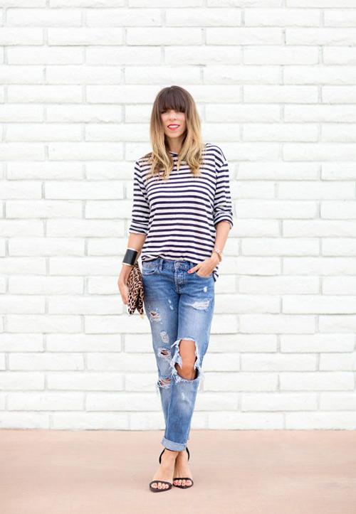 'cham mat' nhung co nang phat cuong vi jeans rach - 7