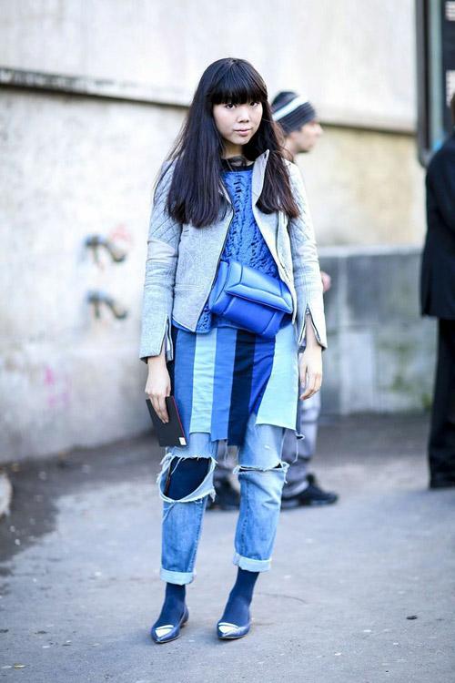 'cham mat' nhung co nang phat cuong vi jeans rach - 2
