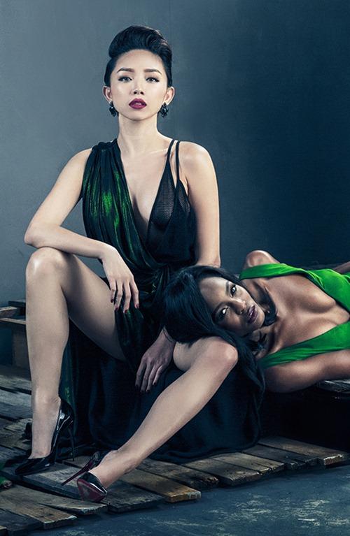 Tóc Tiên hở bạo bên quán quân Next Top Model Mỹ-7