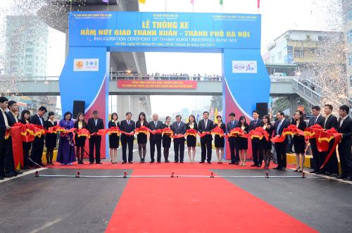 Thông xe hầm chui giao lộ 4 tầng đầu tiên ở Hà Nội-1