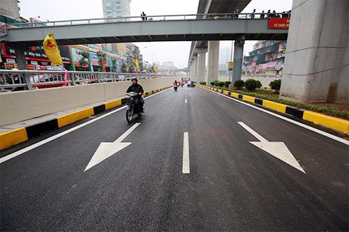 Thông xe hầm chui giao lộ 4 tầng đầu tiên ở Hà Nội-11