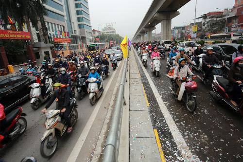 Thông xe hầm chui giao lộ 4 tầng đầu tiên ở Hà Nội-13