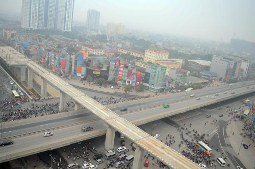 Thông xe hầm chui giao lộ 4 tầng đầu tiên ở Hà Nội-2