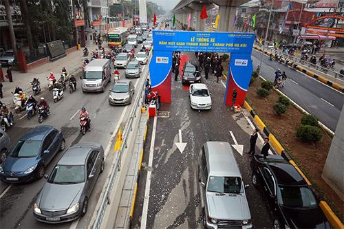 Thông xe hầm chui giao lộ 4 tầng đầu tiên ở Hà Nội-5