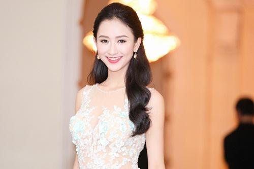 """Á hậu Hà Thu """"đọ"""" váy gợi cảm với Hoa khôi Nam Em-4"""