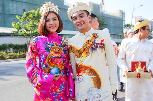 Ông xã Vân Trang đưa dàn siêu xe đi rước dâu-7