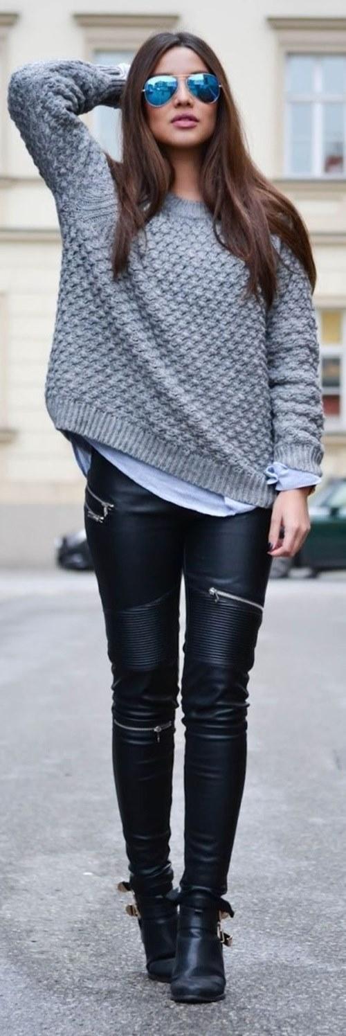 101 cách mặc áo len đẹp có thể bạn chưa biết!-5