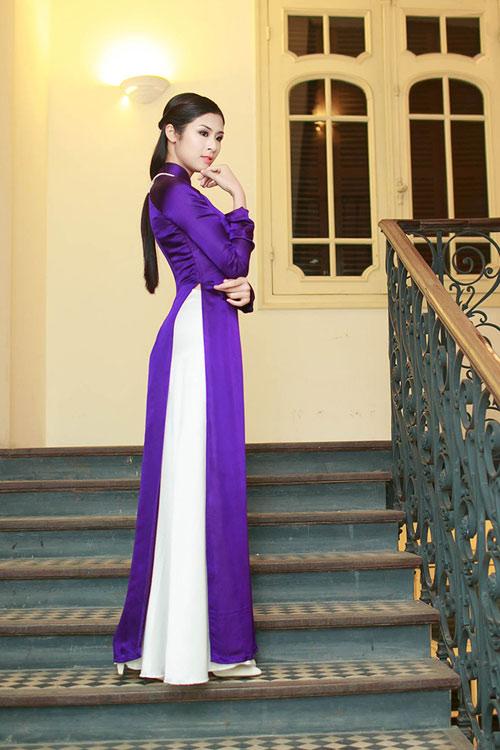 Hoa hậu Ngọc Hân đẹp nhất khi mặc áo dài-13