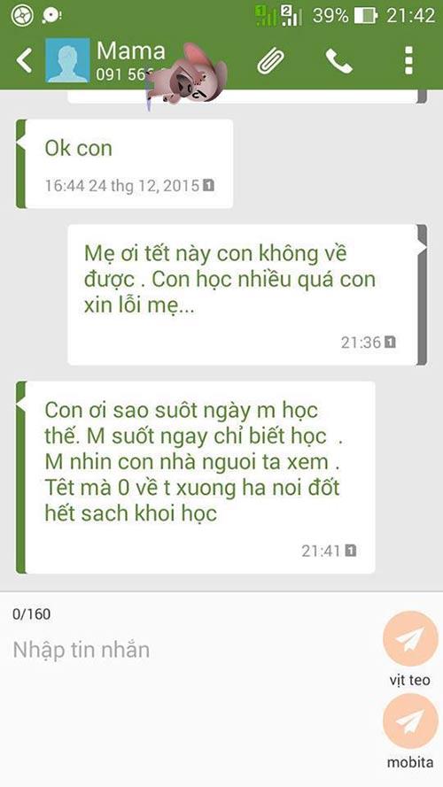"""ran ran"" trao luu nhan tin cho me ""tet nay con khong ve"" - 7"