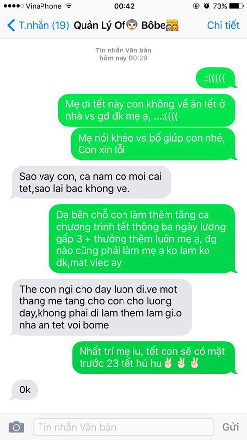 """ran ran"" trao luu nhan tin cho me ""tet nay con khong ve"" - 15"