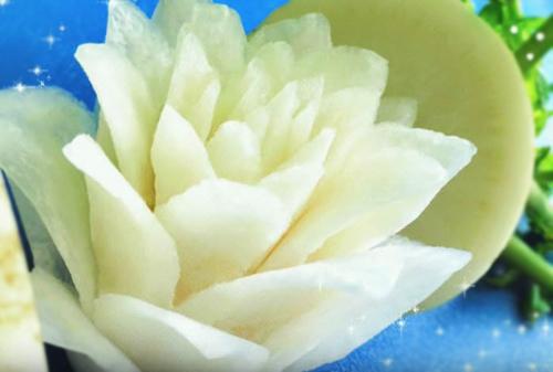 trang tri dia an bang hoa cu cai dep mat - 7