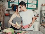 Mang thai 6-9 tháng - Bộ ảnh mẹ bầu e ấp bên chồng đẹp không tì vết