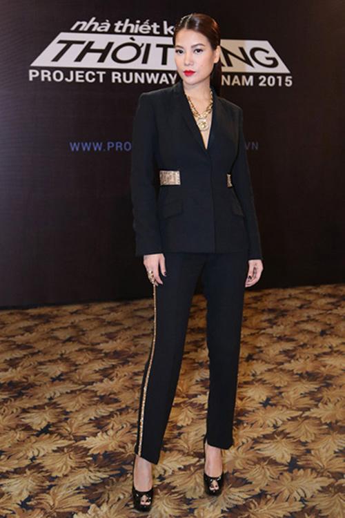 "truong ngoc anh vay ao ""that thuong"" tai project runway 2015 - 3"