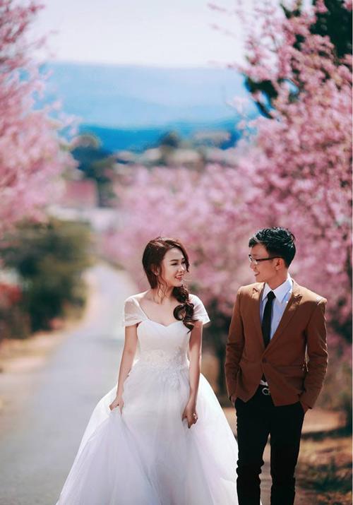 Đẹp mê hồn bộ ảnh cưới ngập tràn sắc hoa ngày xuân-7