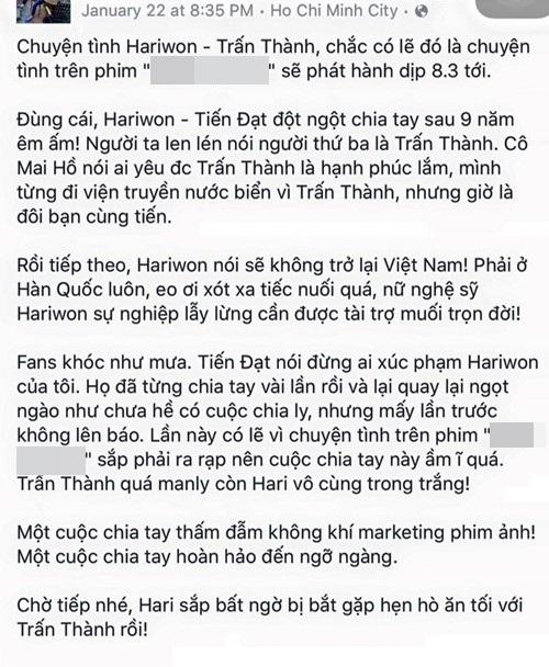 hari won - tran thanh: cai gia qua dat khi do vo hinh tuong? - 3