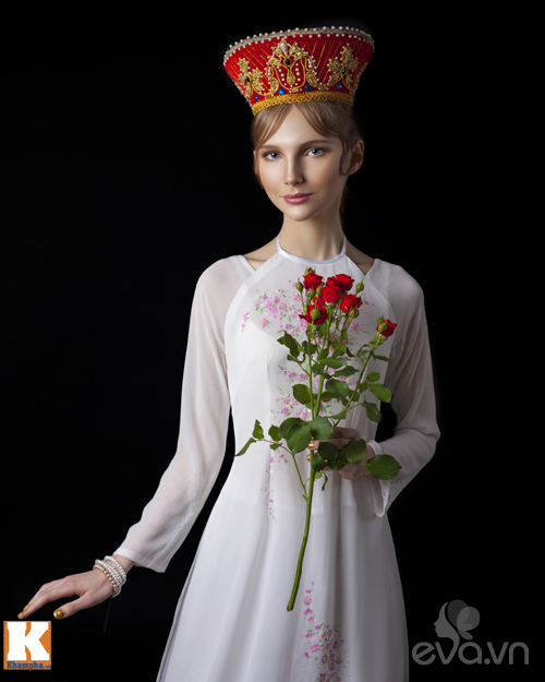 Chuyện tình yêu của cô gái Nga và áo dài Việt-8