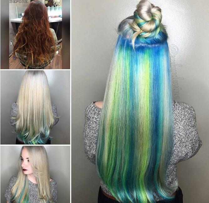 Đầu xuân, nhuộm tóc underlight để rực rỡ cả năm-1