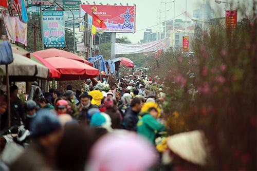 """Chợ hoa Quảng Bá """"nêm"""" chặt người những ngày cuối năm-2"""