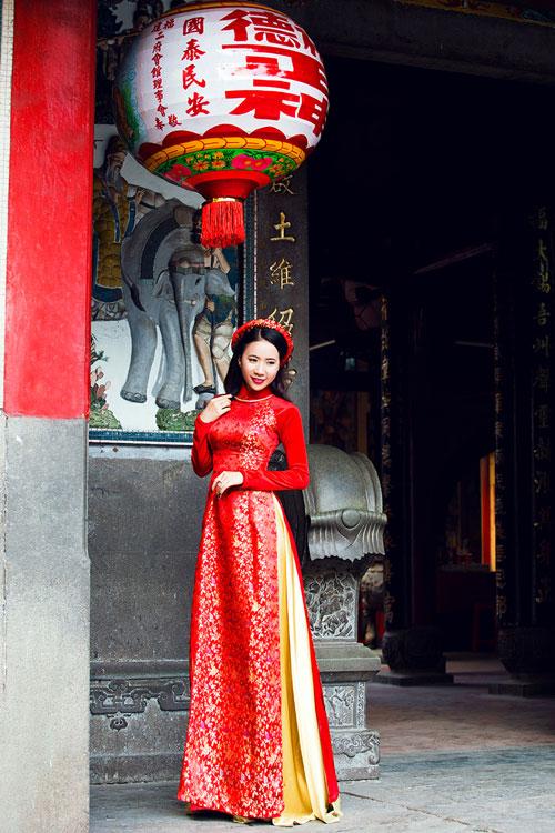 duong hoang yen, a khoi ngoc thanh no nuc ao dai don xuan - 6