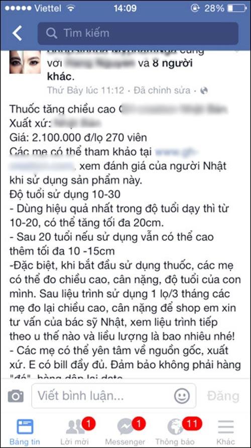 """nga ngua"" su that ve thuoc tang chieu cao cho tre - 1"