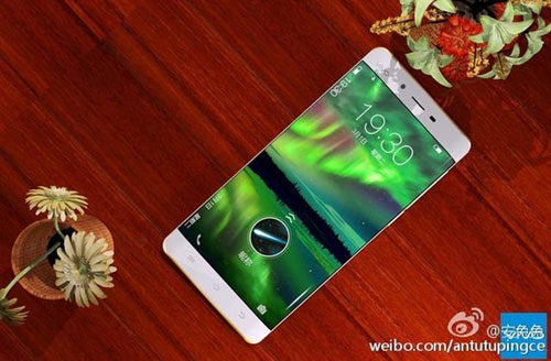 smartphone ram 6 gb, man hinh cong 2 canh cua vivo lo anh - 1