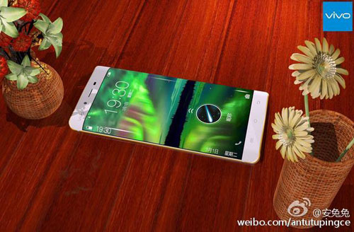 smartphone ram 6 gb, man hinh cong 2 canh cua vivo lo anh - 3