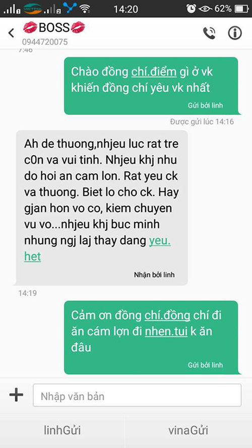 'ran ran' trao luu nhan tin hoi 'dieu gi khien chong yeu vo' - 7