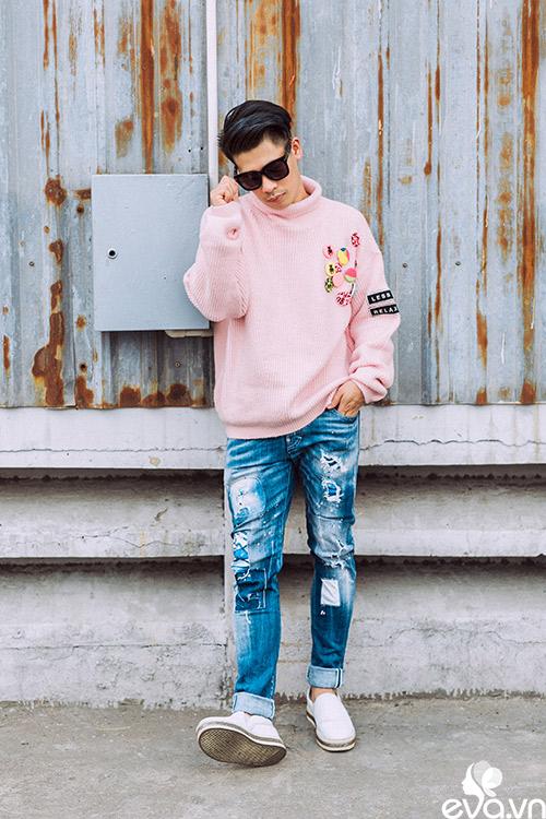 stylist travis nguyen bat mi bi quyet mac quan jeans - 7