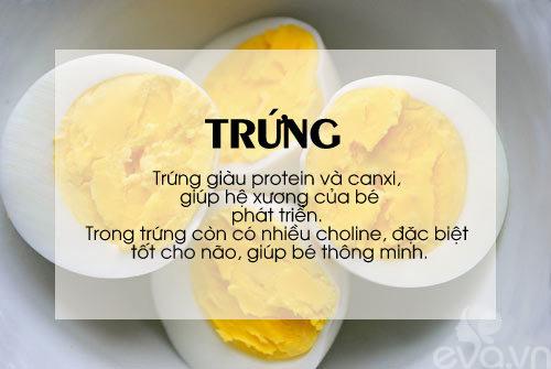 'thuc pham vang' cho be can tang can, chong lon - 10