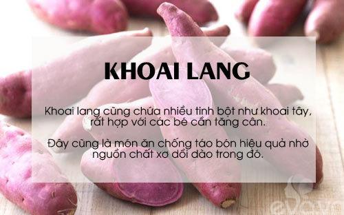 'thuc pham vang' cho be can tang can, chong lon - 3