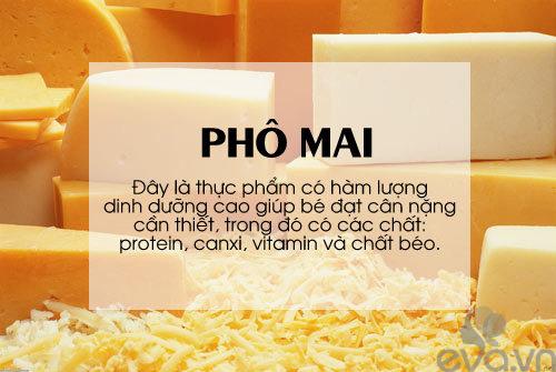 'thuc pham vang' cho be can tang can, chong lon - 4