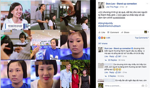 "man ""make over"" bien co gai toc dai thanh ""ma-no-canh"" gay tranh cai - 3"