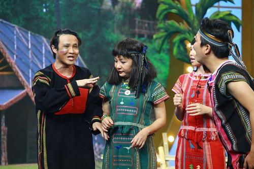 """huong giang idol khang dinh """"co thai"""" voi hoai linh tren truyen hinh - 12"""