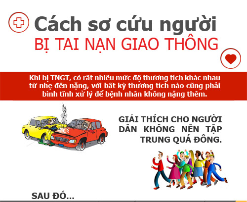 infographic: so cuu nguoi bi tai nan giao thong dung cach - 1