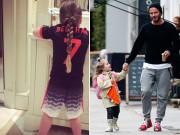 Hậu trường - Beckham thích thú khoe hình Harper mặc áo số 7